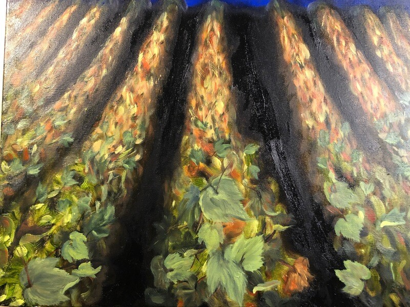 Harvest is Over - oil on canvas 18 X 14 inches