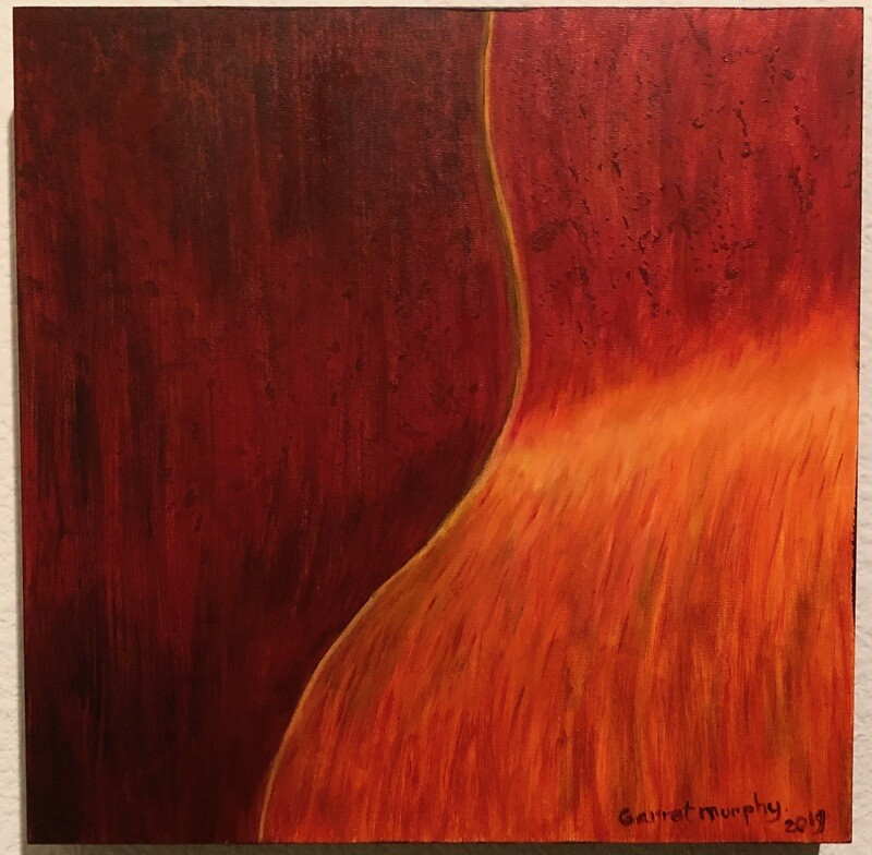 Ode to Richard Serra- Acrylic on wood frame 12 X 12 inches