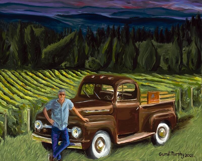 """Platt Vineyard"" 30X24 inches oil on canvas"