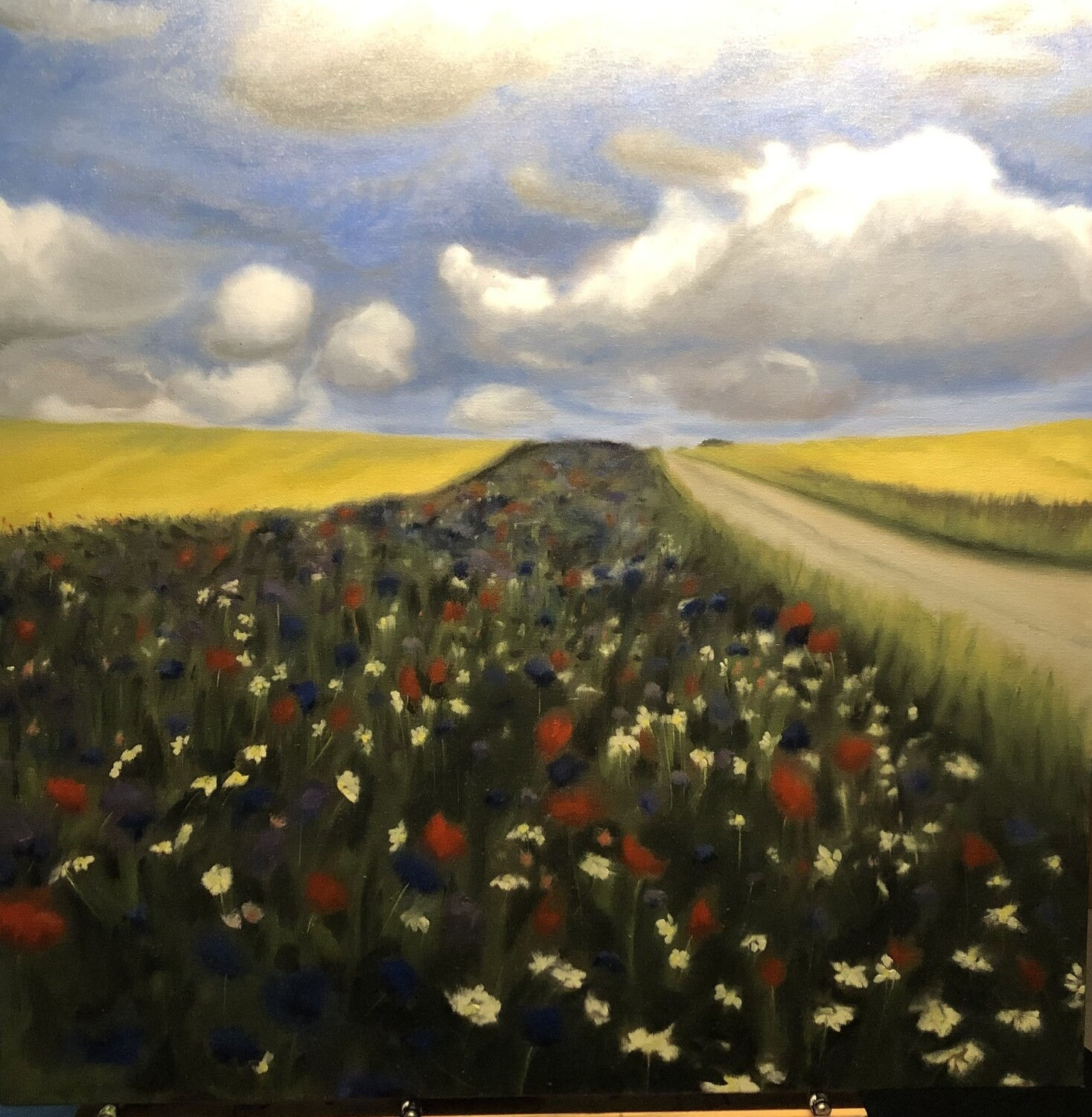 """""""Flowers in danemark"""" 30X30 inches"""