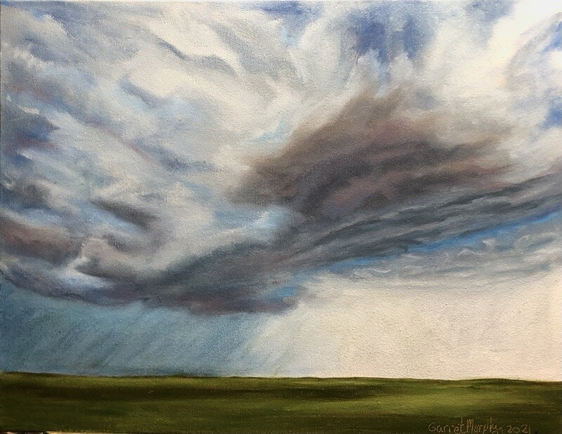 """""""Storm is coming"""" oil on canvas 18X14 inches"""