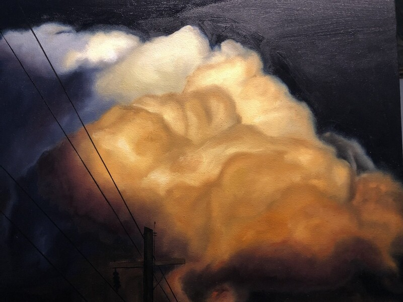 """""""Lines to heaven"""" oil on canvas 18x14 inches"""