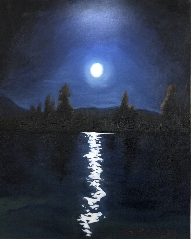 """Midnight in Tahoe"" oil on canvas"