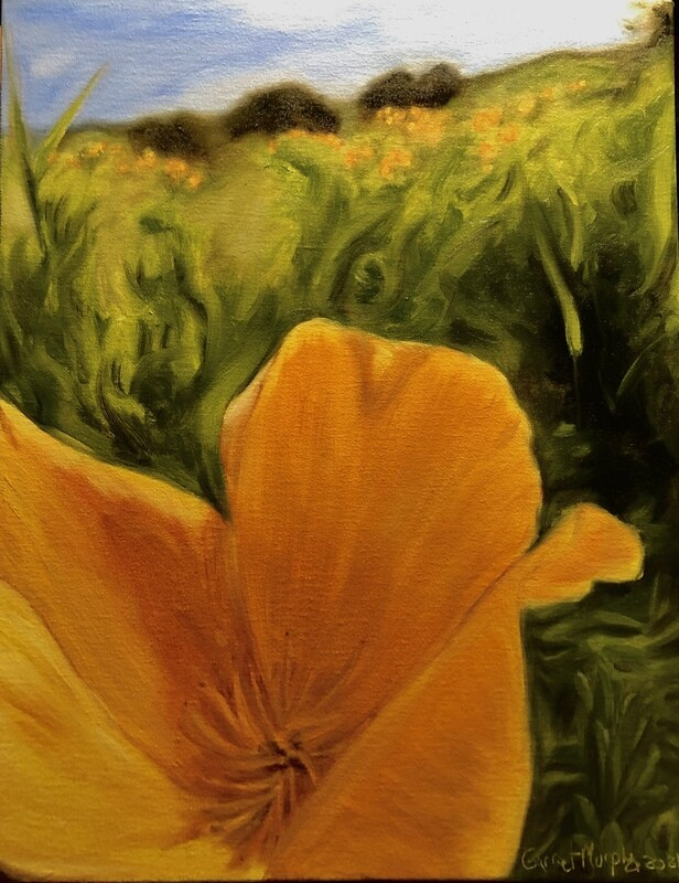 """""""Poppy"""" oil on canvas 18 X 14 inches"""