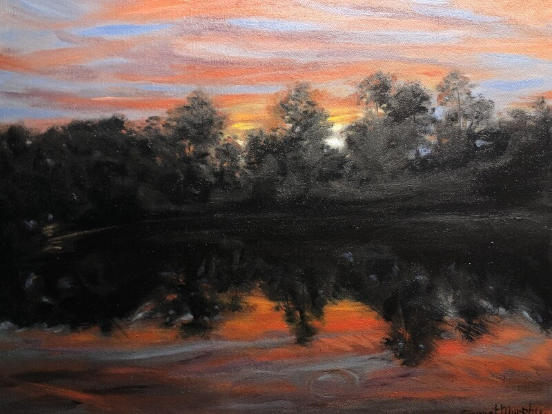 """""""Fire and water"""" oil on canvas        18X14 inches'"""