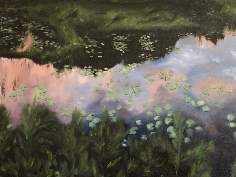 """""""Ode to Monet"""" oil on canvas 30X24 inches'"""