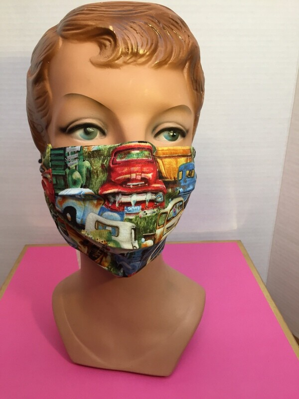 Vintage Trucks Face Mask