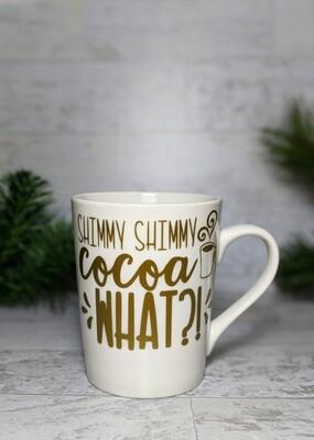 """""""Shimmy Shimmy"""" Mug PLUS 3 Hot Chocolate Bombs"""
