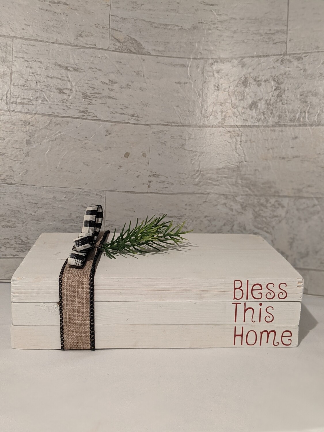 """""""Bless This Home"""" Wood Book Décor"""