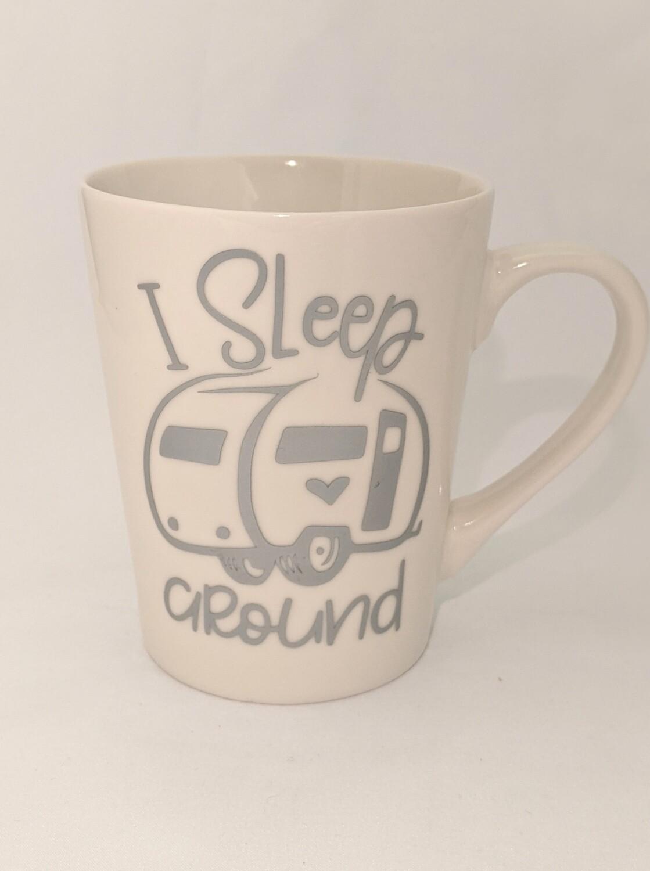 """I Sleep Around"" Mug PLUS 3 Hot Chocolate Bombs"