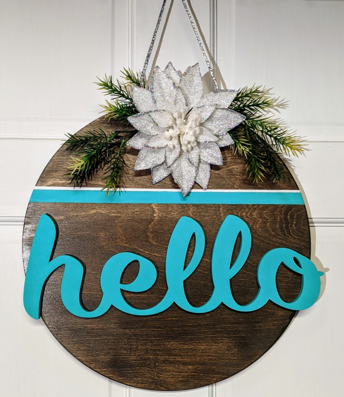 """Hello"" Circle sign"