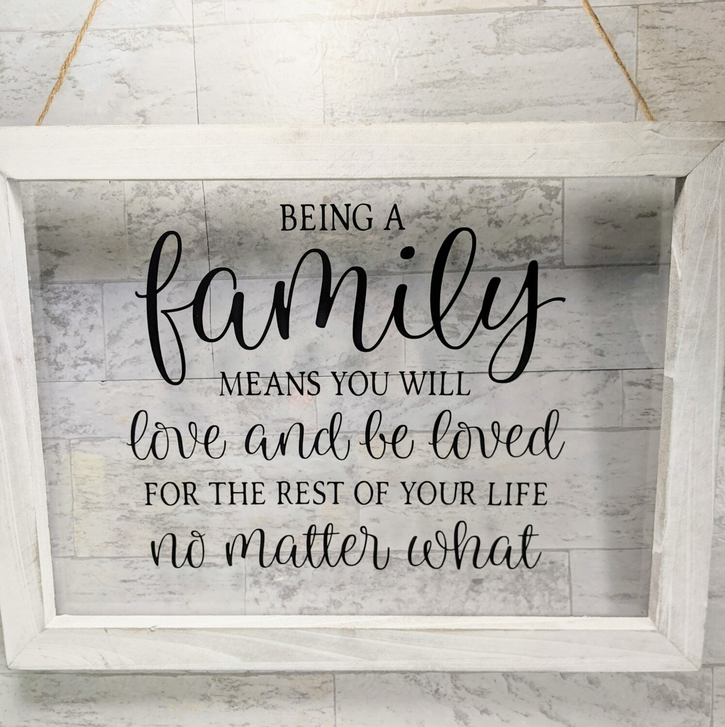 Family Hanging Sign