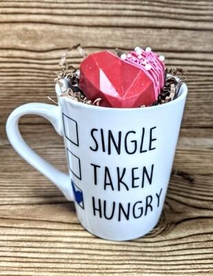 Single/taken/hungry mug and Hot Chocolate Bomb