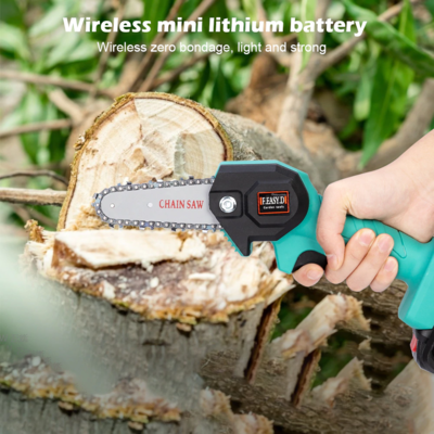 Mini Electric Saw Chainsaw 24V For Woodworking Garden Tools