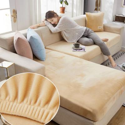 Velvet sofa seat cover cushion cover