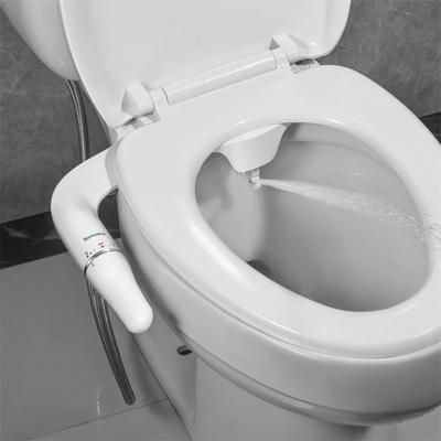 SAMODRA Bidet Attachment Ultra-Slim Toilet Seat Attachment With Brass Inlet Adjustable Water