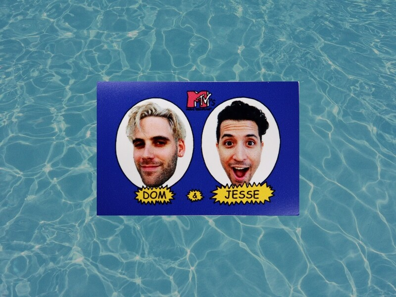 Blue/Faces Sticker