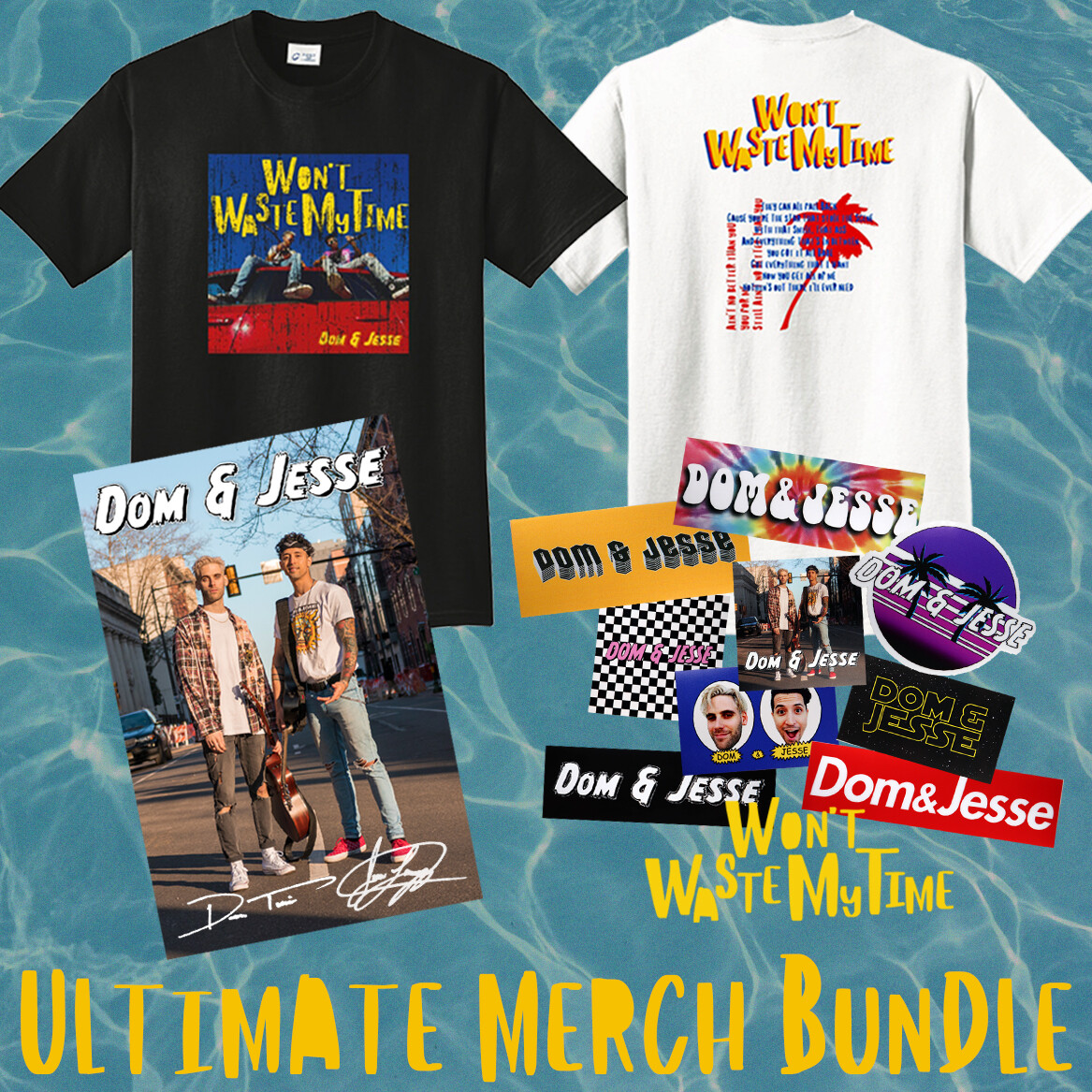 Ultimate Merch Bundle - 2 Tees + 1 Signed Poster + 10 Stickers