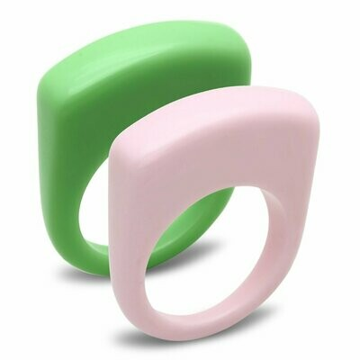 LO2384 -  Resin Ring with Synthetic Synthetic Stone in Multi Color
