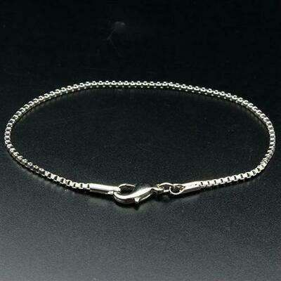 LO1944 - Rhodium Brass Bracelet with No Stone