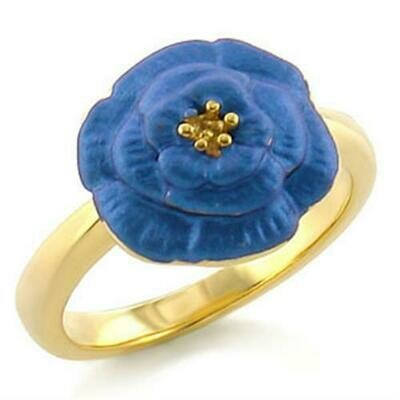 LO469 - Gold White Metal Ring with No Stone