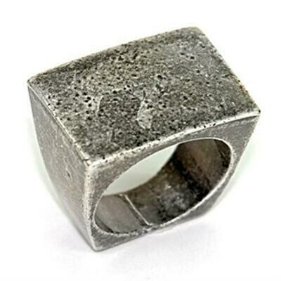LOA057 - Ruthenium Brass Ring with No Stone