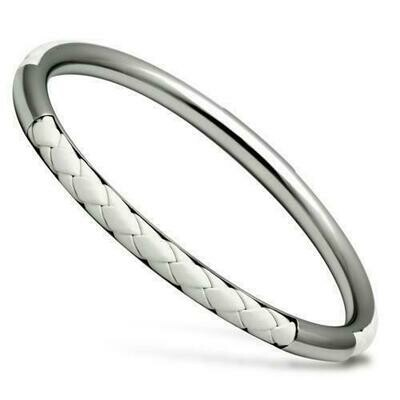 TK405 - High polished (no plating) Stainless Steel Bangle with No Stone