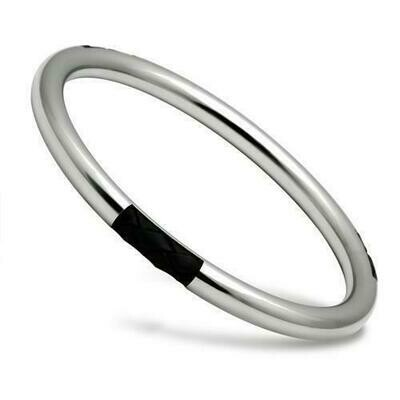 TK404 - High polished (no plating) Stainless Steel Bangle with No Stone