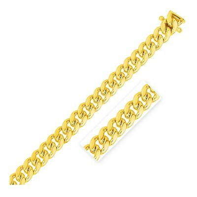 10.0mm 14k Yellow Gold Classic Miami Cuban Chain