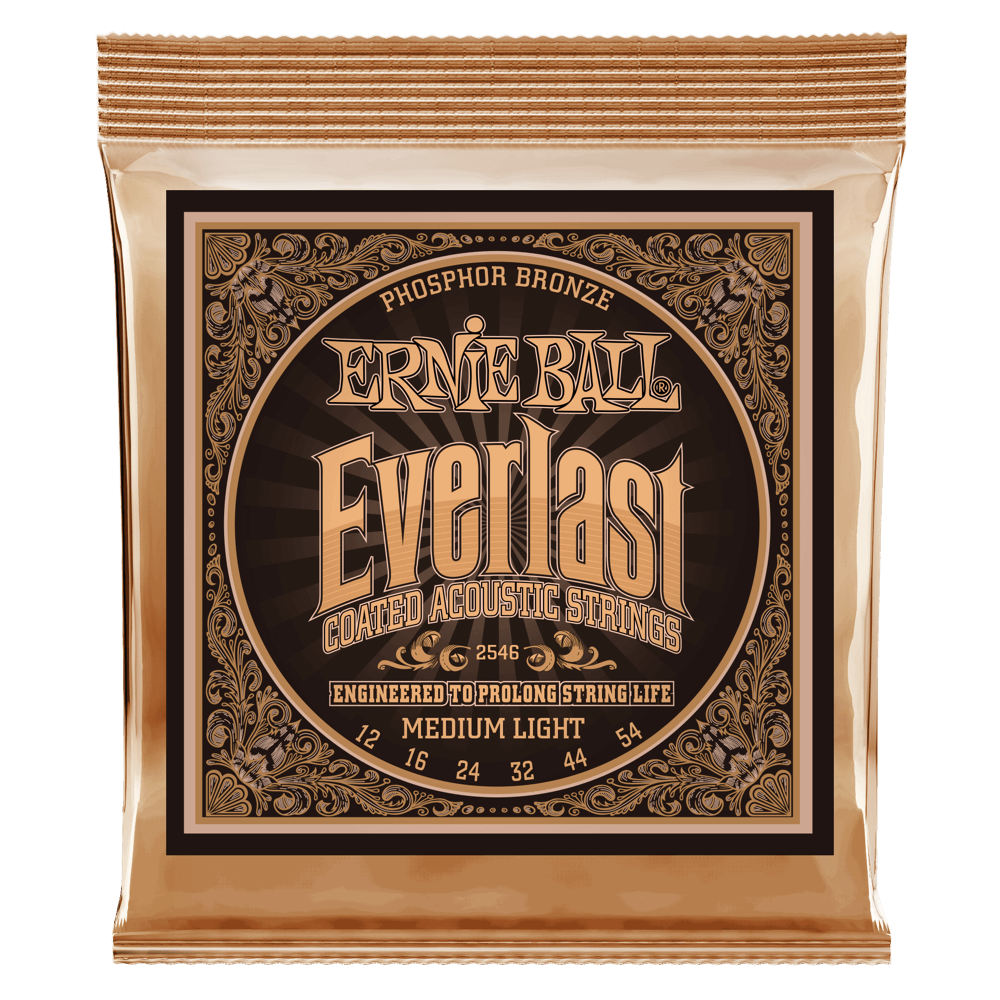 Ernie Ball Everlast Coated Phosphor Bronze Acoustic Guitar Strings