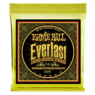 Ernie Ball Everlast Coated 80/20 Bronze Acoustic Guitar Strings
