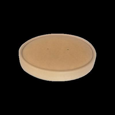 BIO Kraft/PLA Lid Φ150mm for Salad Bowl 500, 750 & 1000ml