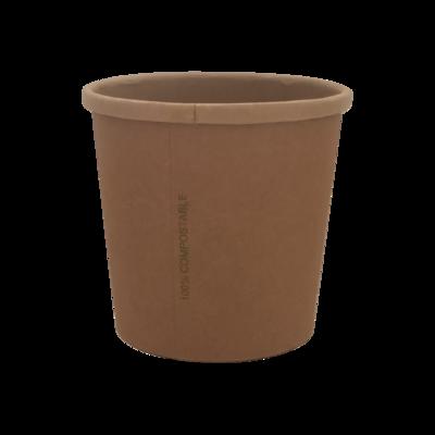 BIO Kraft/PLA Soup Cup 360ml/12oz