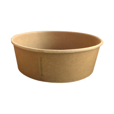 BIO Kraft/PLA Salad Bowl 1100ml