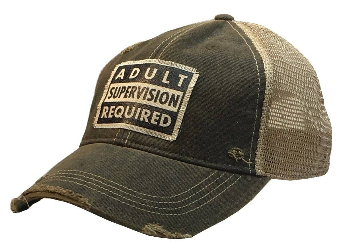 Vintage Life - Adult Supervision Required Trucker Hat Baseball Cap