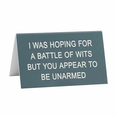 Battle Of Wits Sign