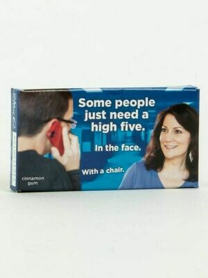 Blue Q Some people just need a high five, in the face, gum
