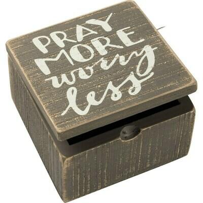 Pray More Worry Less Hinged Box