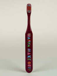 Blue Q WANNA MAKE OUT TOOTHBRUSH