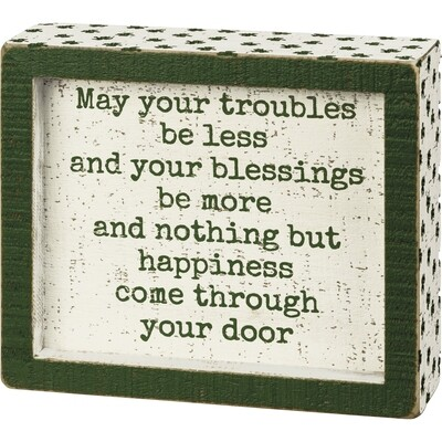 PBK-Inset Box Sign - May Your Blessings Be More