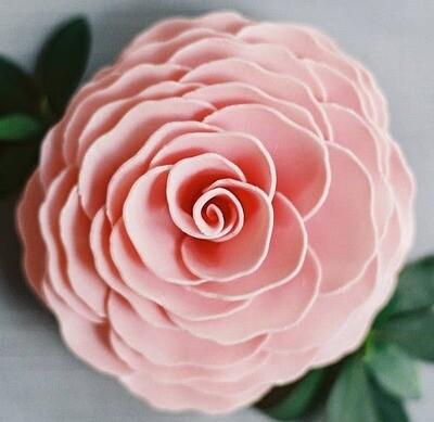 A'marie's Bath Flower Shop - Vintage Rose Bathing Petal Soap Flower