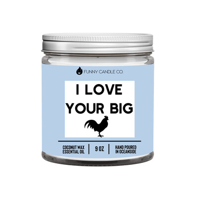 Les Creme - I Love Your Big Cock (pg) Candle -9 oz