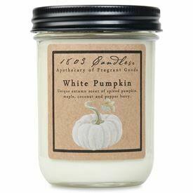 1803 Candle White Pumpkin-14oz. Jar Candle