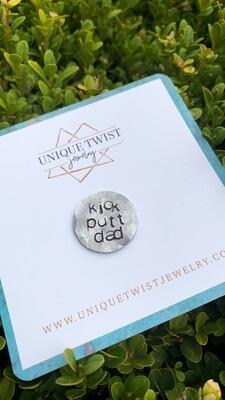 Unique Twist Jewelry - Kick Putt Dad Golf Ball Marker