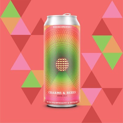 Charms & Hexes Strawberry Rhubarb Cans