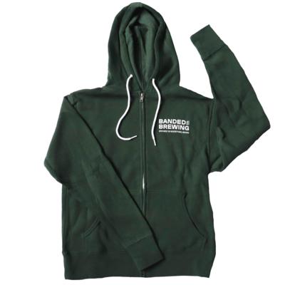 Zip Hoodie FOREST GREEN