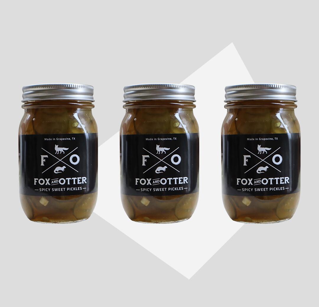 3 JARS of F&O Sweet/Spicy Pickles
