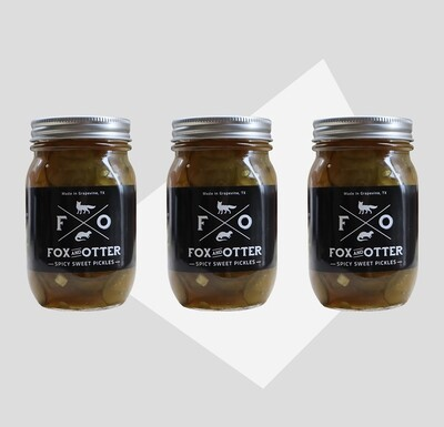 3 JARS of F&O Sweet/Spicy Pickles
