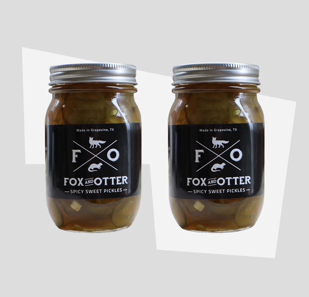 2 JARS of F&O Sweet/Spicy Pickles