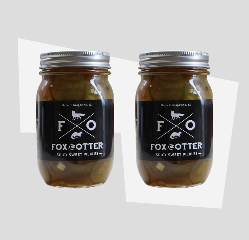 2 JARS of F&O Sweet/Spicy Pickles